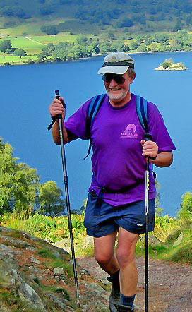 Tony Caldwell at Ullswater on Wainwright's Coast to Coast Walk